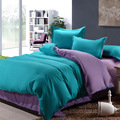 Bedding Set 4 Pieces Solid Color Brief Chic Style Sheet Duvet Cover Pillowcase Home Wedding Decoration King Queen Twin