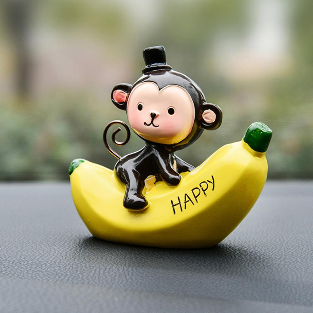 Automobiles & Motorcycles Interior Accessories Resin Love Craft Car Ornament Cute Monkey Cartoon Gift Office Valentines Day Home Interior Birthday Dashboard Decoration Comfortable And Easy To Wear
