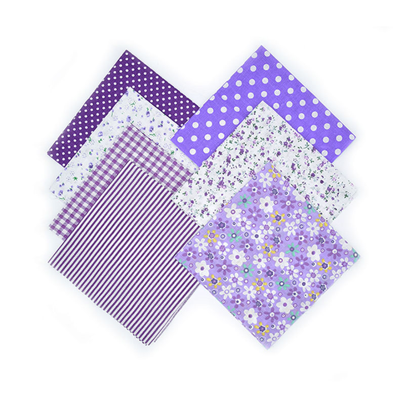 7Pcs Multi Style 25cmx25cm Cotton Fabric Printed Cloth Sewing Quilting Fabrics for Patchwork Needlework DIY Handmade Material in Fabric from Home Garden