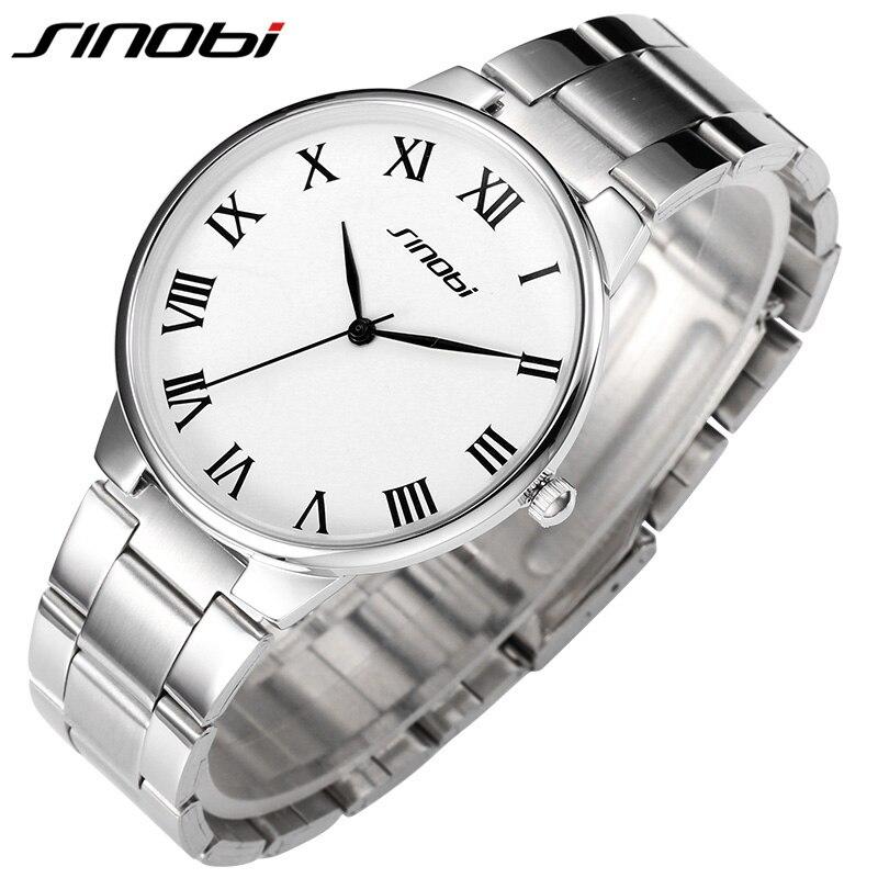 SINOBI Original Lover's Watch Woman Full Metal Strap Japan Quartz Wrist Watches Female Ladies Clock L37