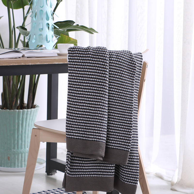Charming Aliexpress.com : Buy Free Shipping Christmas Gift Reversible Geometric  Stripes Pattern Cotton Knitted Bedspread Throw Blanket Wrap Photography  Props From ...