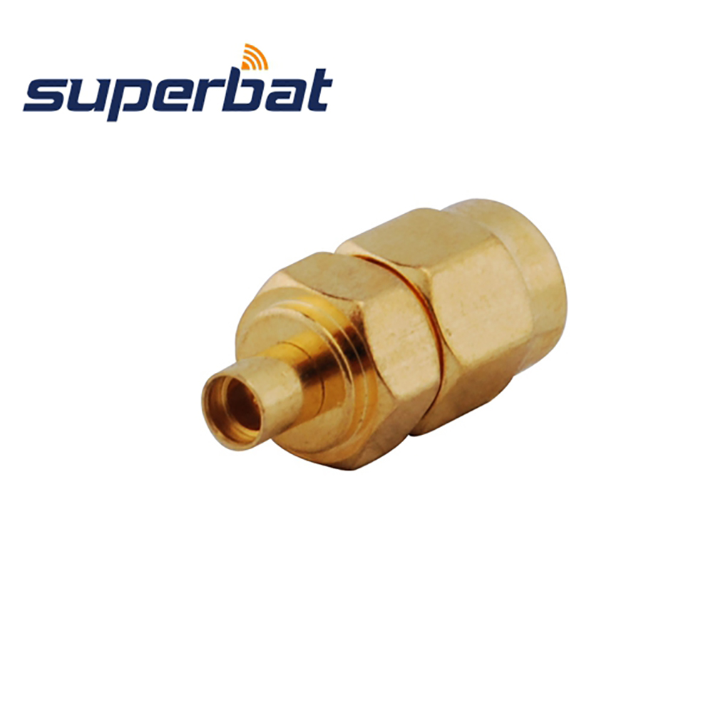 Superbat 5pcs SMA-MMCX 50 Ohm Adapter SMA Male Plug To MMCX Female Jack Straight RF Coaxial Adapter Connector Free Shipping