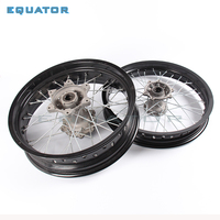3.50x17 5.00x17 3.5*17 and 5.0017 inch Front and Rear MX Supermoto Orange Wheels Rims Hub for 125 250 motorcycle