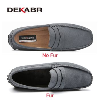 DEKABR Brand Fashion Summer Style Soft Moccasins Men Loafers High Quality Genuine Leather Shoes Men Flats Gommino Driving Shoes 1