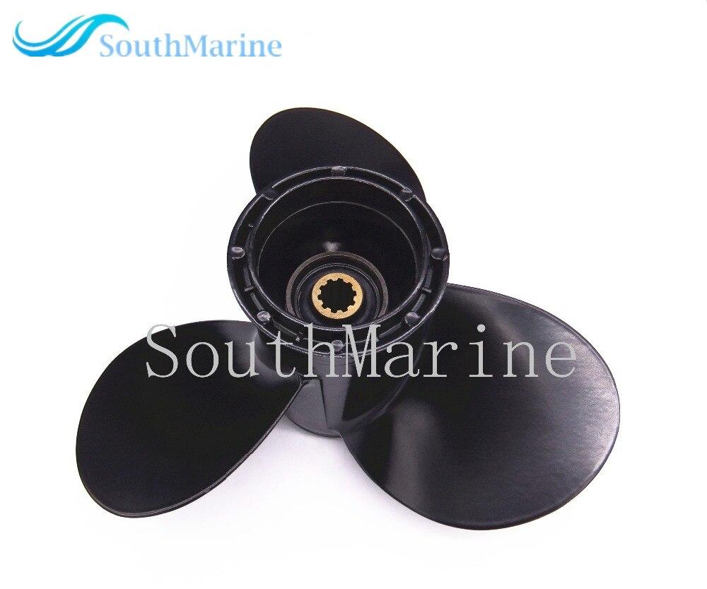 9 1/4x8 boat engine aluminum propeller for suzuki 9.9hp 15hp