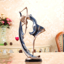 Europe colorful dancer resin dancing crafts creative Figurines & Miniatures statue morden Office home decorate birthday gifts