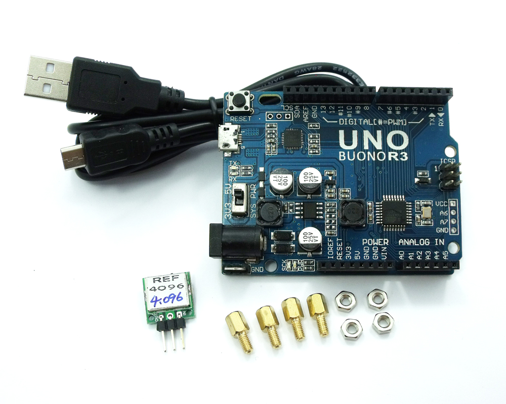 REF-4096이 내장 된 UNO R3 4.096V 50ppm 정밀 전압 레퍼런스 8 / 10 / 12b ADC STM32 ARM 키트