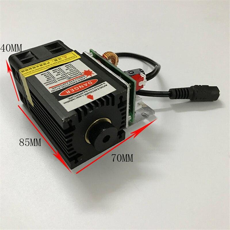 500 mw/2500 mw/5500 mw 450nm 12 V machine de gravure laser partie du module laser à tête laser avec laser à commande TTL PWM po
