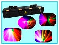 Раша Горячие Продажа 4 головки RGB (красный и синий и зеленый) сканирования лазерный свет лазерное шоу Системы для сцены свет 4 объектива лазер
