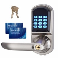 Smart Electronic Lock Digital Keypad Password Door Lock Mifare Card and Mechanical Key Right or Left Hand For Apartment F1402D