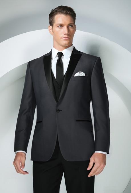 New Arrival vőlegény szmoking Groomsmen csúcsszárnyú esküvő / - Férfi ruházat