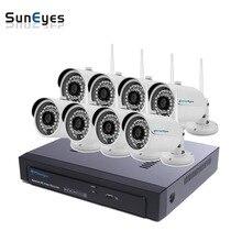 SunEyes SP-VK1881W-E 1080P HD 8CH IP CCTV Camera NVR Kit 1SATA Port with 8pcs HD Wireless Wifi Mini IP Camera Outdoor P2P