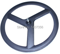 Popular Design Free Shipping Carbon Road Or Track Front Clincher 3 Spoke Wheel