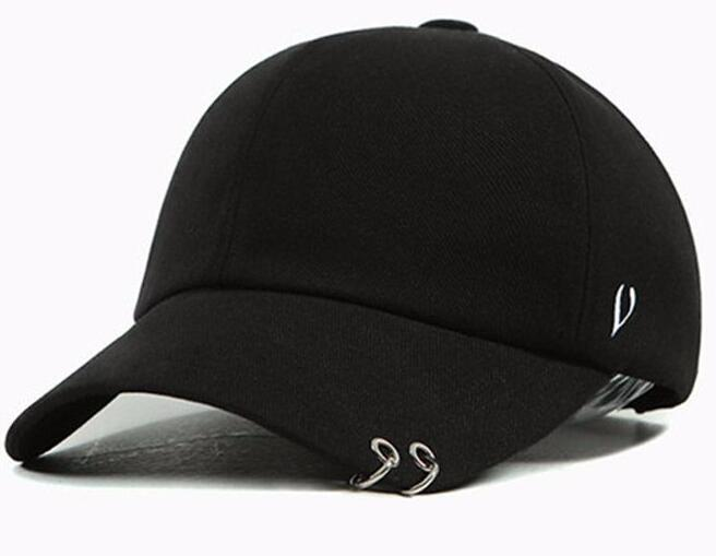 new suede cap in stock Gd unisex solid Ring Safety Pin curved hats baseball cap men women snapback caps sport casquette gorras