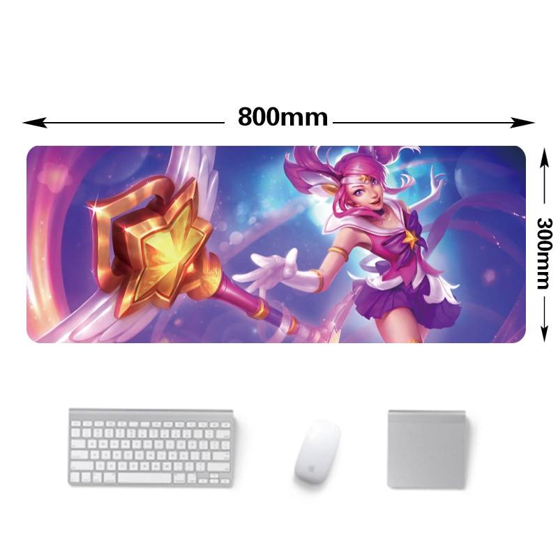 재고 ! 800x300mm 큰 크기 잠금 가장자리 mousepad - 컴퓨터 주변 기기