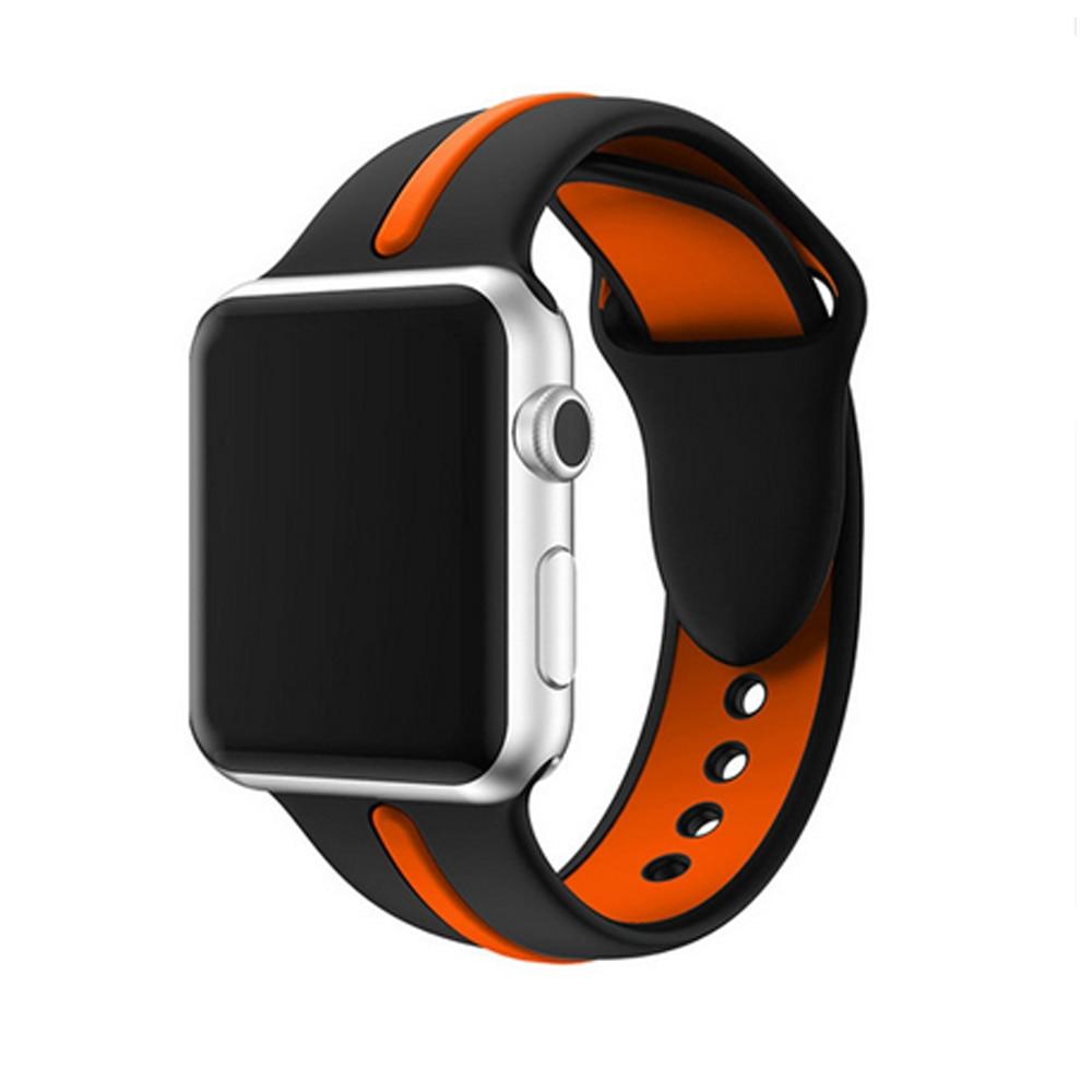 Cresta silicona banda de reloj para apple watch 3/2/1 42mm/38mm Iwatch pulsera correa de muñeca reemplazo de goma Correa