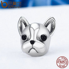 925 Sterling Silver French Bulldog Charm