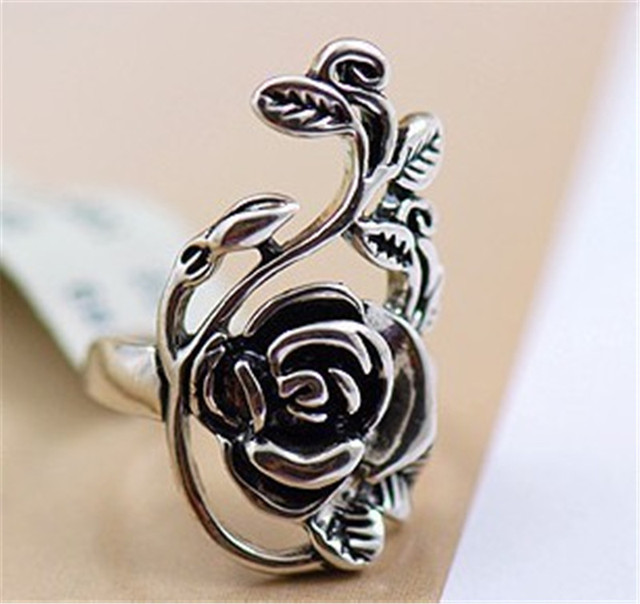 Vintage Retro Fashion Rose Ring for Women 8RD125