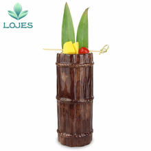 New 470ml Hawaii Tiki Mugs Cocktail Cup Beer Beverage Mug Wine Mug Ceramic Bamboo Tiki Mug