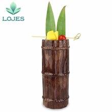 Novo 470ml havaí tiki canecas cocktail copo cerveja bebida caneca de vinho cerâmica bambu tiki caneca