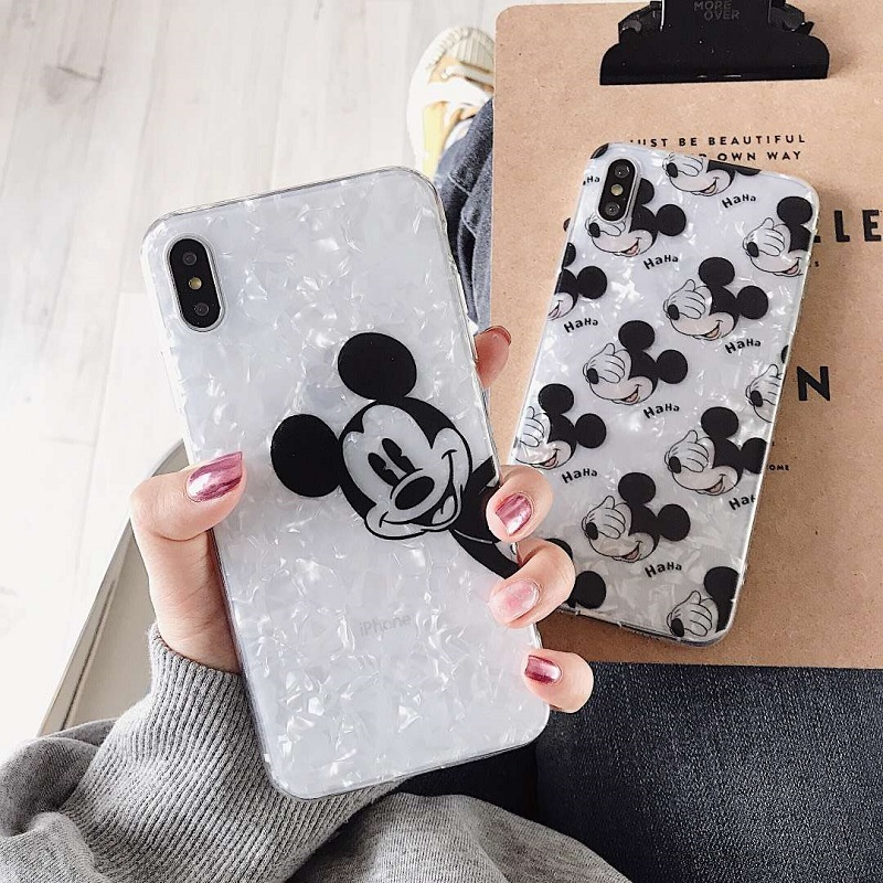 Cute Cartoon <font><b>Mickey</b></font> Minnie Phone <font><b>Cases</b></font> For iphone7 <font><b>case</b></font> Transparent Silicon Cover For iphone6 6s 7 8plus XR XS MAX XS <font><b>case</b></font> Capa image
