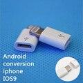 1 ШТ. Розничная Android Адаптер глава Micro USB для Освещения 8 контактный Разъем Адаптер Конвертер USB Синхронизации Данных Зарядный Кабель Для ios9