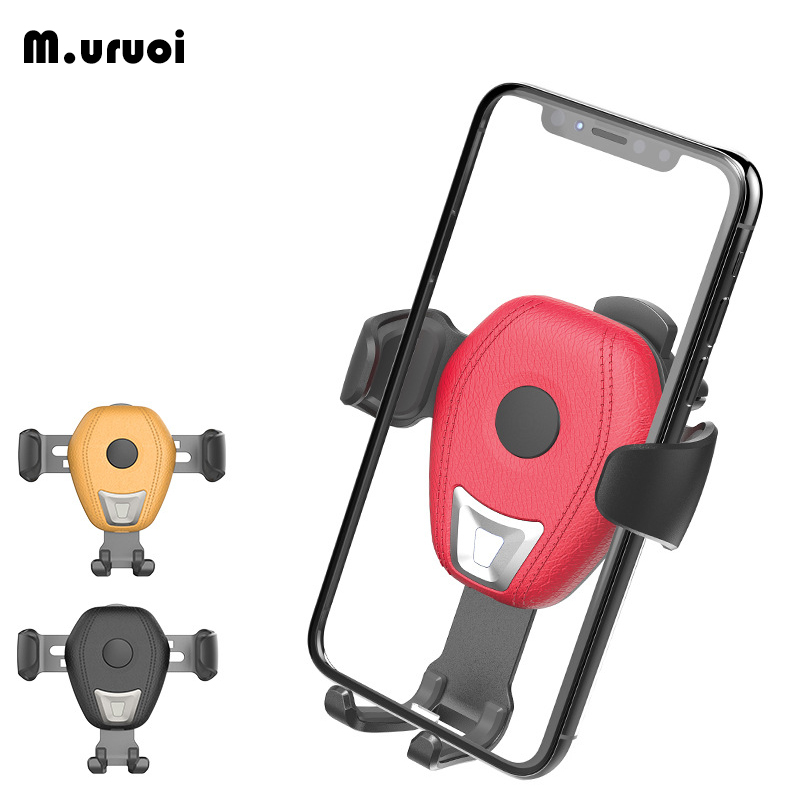 M.uruoi Car Qi Wireless Charger Mount Holder Stand Wirless Charging 10W Fast For Samsung iPhone Air Vent Clamping Type For Phone