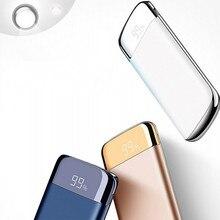 Мощность Bank внешняя Батарея 10000 mah Мощность Bank 2 USB ЖК-дисплей Мощность банк Портативный мобильного телефона Зарядное устройство для Xiaomi Mi 18650