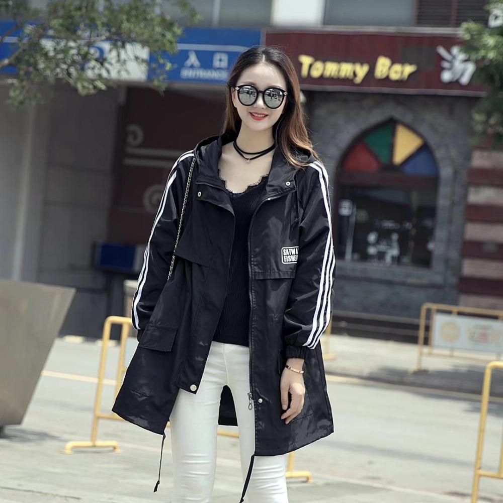 large size trench women female windbreaker hooded cape woman clothes long trench coat loose plus size