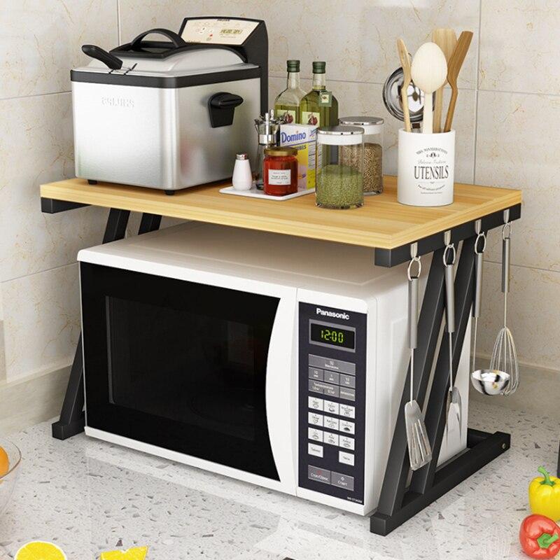 Étagère de cuisine four à micro-ondes étagère cuisinière électrique four stockage Double 2 couches multi-fonctionnel articles ménagers