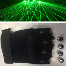 Green Laser Gloves With 4pcs LED Stage Luminous Performance Props For DJ Club Party Show