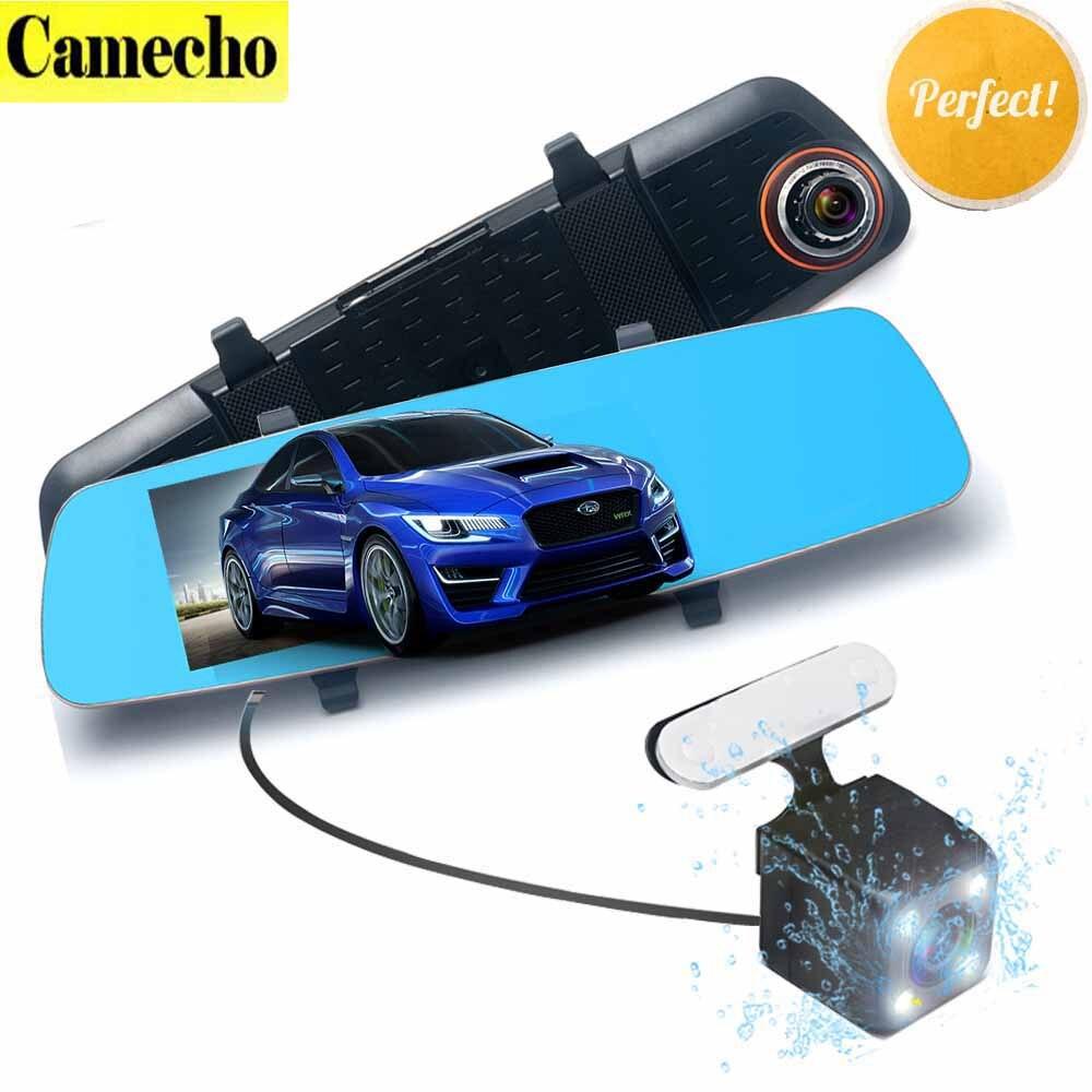 5.0 Car DVRS Full HD 1080p Dual Lens DVR Car Camera Dash Cam Mirror with Rear View Camera Video Recorder Superior Night Vision