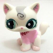 La nueva tienda de mascotas Lps Real raro juguete ojos grandes envío gratis corto Rosa gran colección Dane 41 estilo niños mejor regalo