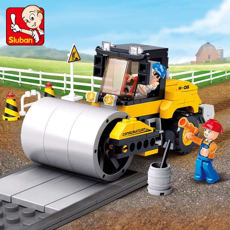 171Pcs Building Blocks Brinquedos de Engenharia Único Tambor Rolo de Rua Da Cidade LegoINGLs Tijolos Brinquedos para As Crianças Presentes de Natal
