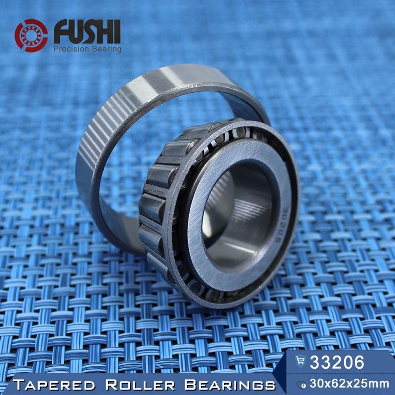 33206 Bearing  30*62*25 mm ( 1 PC ) Tapered Roller Bearings 33206 X 3007206 Bearing free shipping 1 pc 30305 25x62x18 5 tapered roller bearing 25 62 18 5 qc