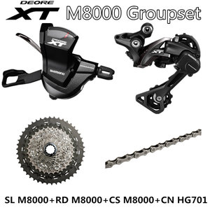 Image 2 - SHIMANO DEORE XT M8000 Groupset MTB Mountain Bike Groupset 1x11 Speed 40T 42T 46T SL+RD+CS+CN M8000 Shift Lever Rear Derailleur