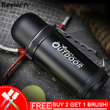 Keelorn 1000ml Stainless Steel Insulated Vacuum Flask Thermos Bottle Outdoor Cup Travel Pot Thermal Vacuum Flasks Thermoses Cups 304 stainless steel thermos 1000ml 2000ml termos coffee vacuum flasks thermoses travel thermos bottle stainless steel thermo pot