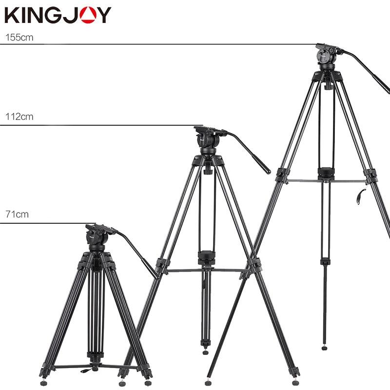 KINGJOY Rəsmi VT-2500 Peşəkar İşıq Çəkmə Kamera Tripod Stand - Kamera və foto - Fotoqrafiya 4