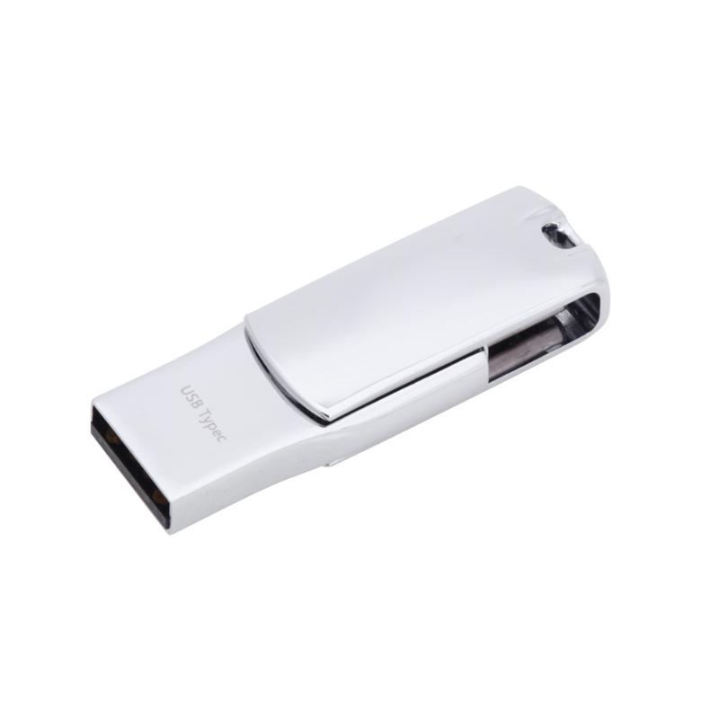 32/64/128gb Metal USB Flash Drive Type-C OTG U Disk Memory Stick for Phone Computer PC Keychain Rotating Pen Drive Pendrive ...