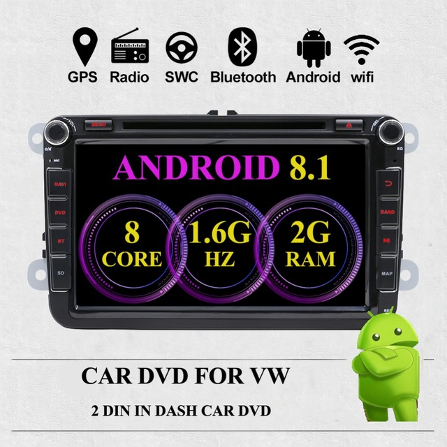 Two Din Car Multimedia Player Android 8.1 octa 8 Cores Auto Radio For Skoda/Seat/Volkswagen/VW/Passat b7/POLO/GOLF 5 6 DVD GPS