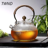 700CC heat resistant glass teapot kettle with handle kung fu pot tea water drinkware 31