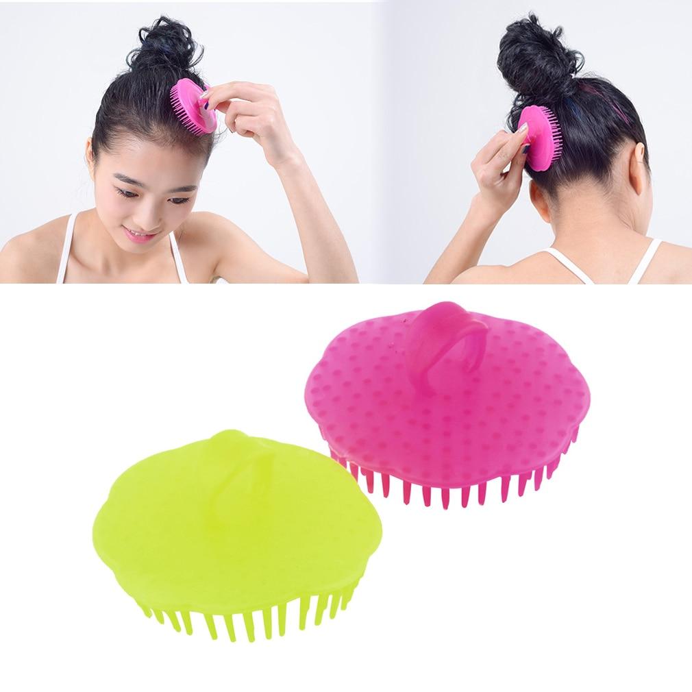 Random Color Shampoo Washing Hair Massage Brush Massager Comb Scalp Shower Body compact dematting comb tool for pets random color