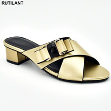 Nowe modne sandały damskie na obcasie luksusowe damskie buty 2019 eleganckie włoskie kobiety pompka imprezowa Slip on niskie czółenka dla kobiet