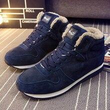 Для мужчин ботильоны мужская зимняя обувь модные зимние ботинки теплые Кружево на шнуровке Обувь на меху Большие размеры 46 45