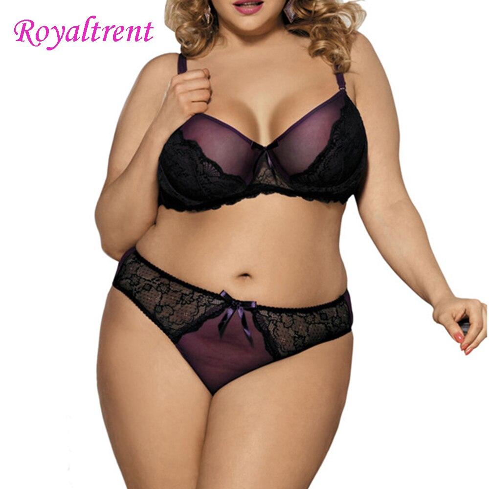 Ladies   Bra     Set   Large Size Underwear Sexy Lace Underwear Black Underwear Women's Intimates   Bra     Set