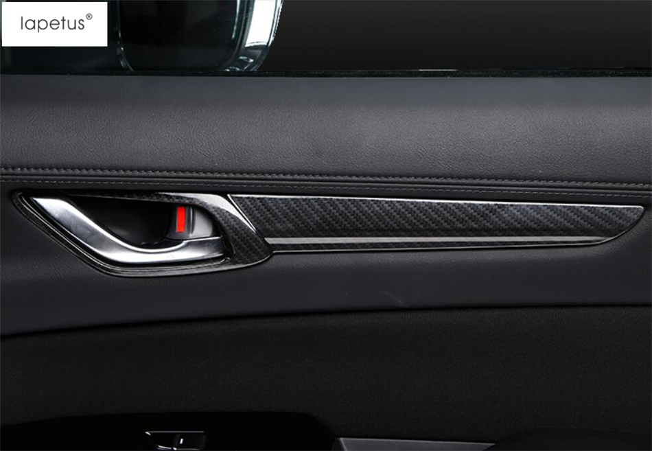 Lapetus Accessories For Mazda CX 5 CX5 2017 2018 2019 Inner Door Pull Doorknob Handle Catch Bowl Molding Cover Kit Trim ABS in Interior Mouldings from Automobiles Motorcycles
