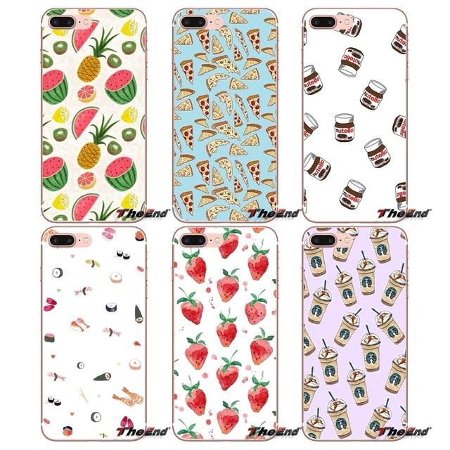 Food Pattern Wallpaper Tumblr Phone Case For Xiaomi Redmi 4 3 3S Pro Mi3 Mi4 Mi4i