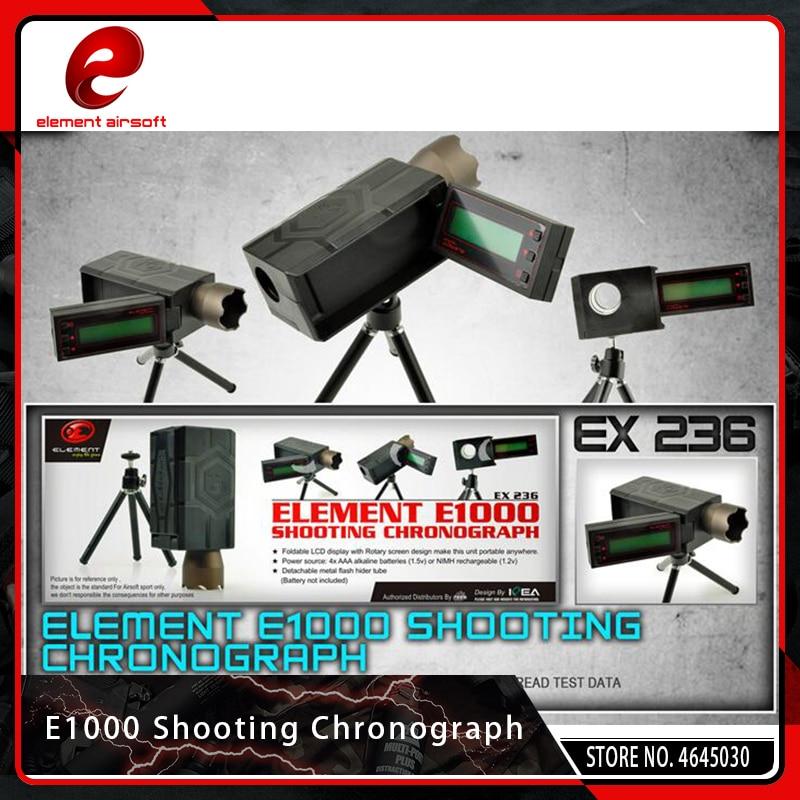 Element Airsoft chasse E1000 tir chronographe pliable affichage LCD avec écran de Paintball rotatif accessoires Softair