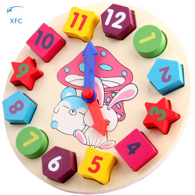 New Wooden Math Geometry Number Block Preschool Toy Kids Baby Clock Colorful Educational Bricks Toy Christmas Xmas Birthday Gift wooden educational tool number building blocks number sticks kids math learning educational toy ao p
