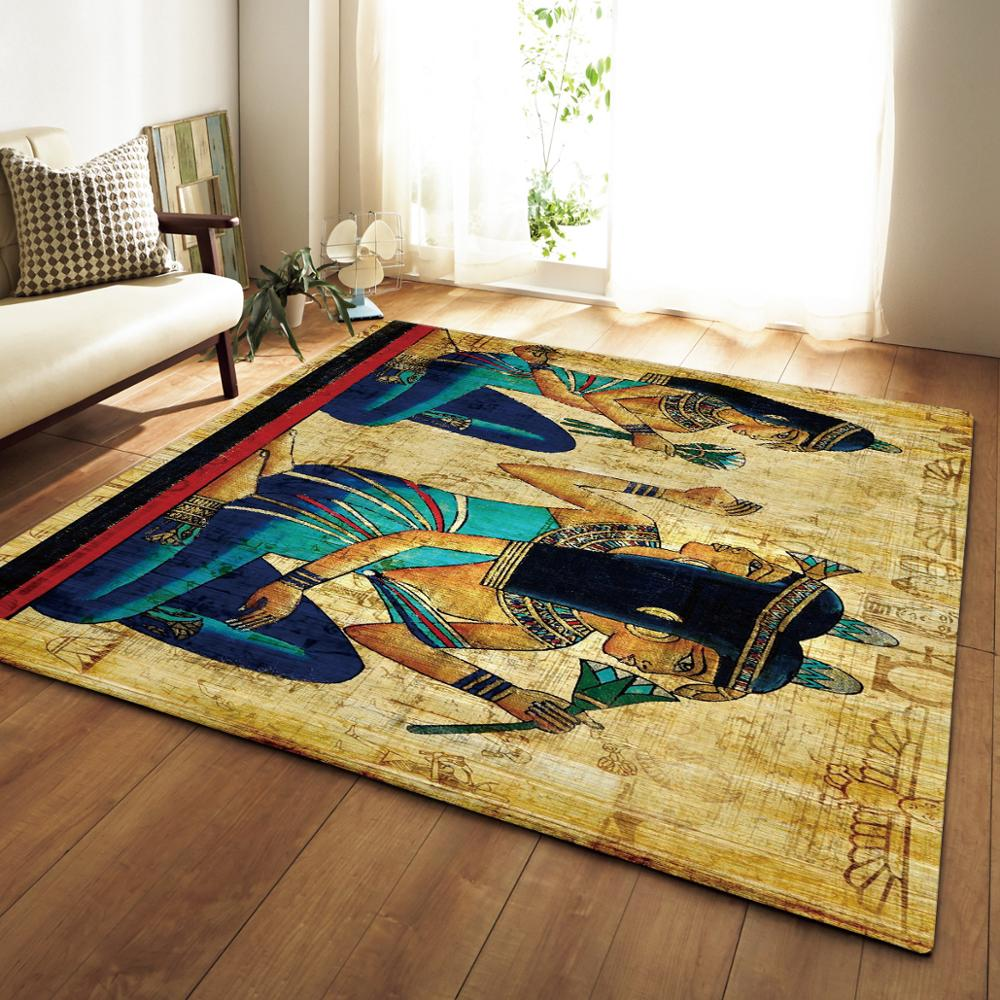 Style ethnique rétro grande surface tapis salon décor à la maison tapis Yoga tapis chambre tapis Table à thé rectangulaire tapis de sol tapis